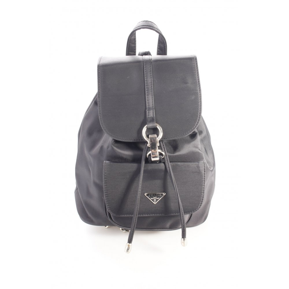prada mini rucksack schwarz damen tasche bag backpack ebay. Black Bedroom Furniture Sets. Home Design Ideas