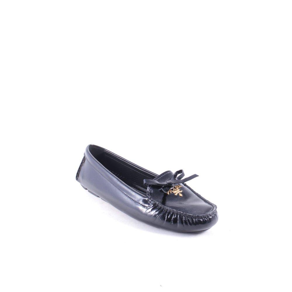 prada mokassins calzatura donna loafer schwarz damen gr de 40 5 schuhe ebay. Black Bedroom Furniture Sets. Home Design Ideas