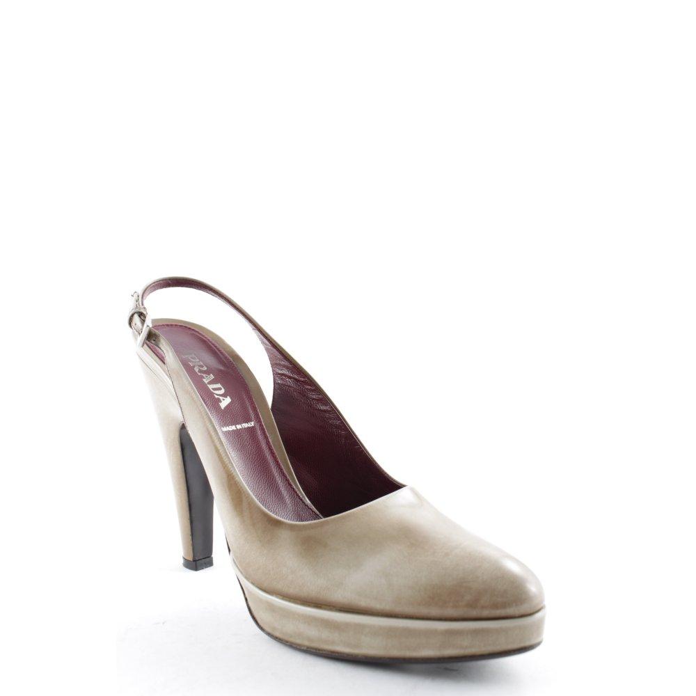 PRADA Dcollet con cinturino sabbia Colore sfumato elegante Donna Taglia IT 40