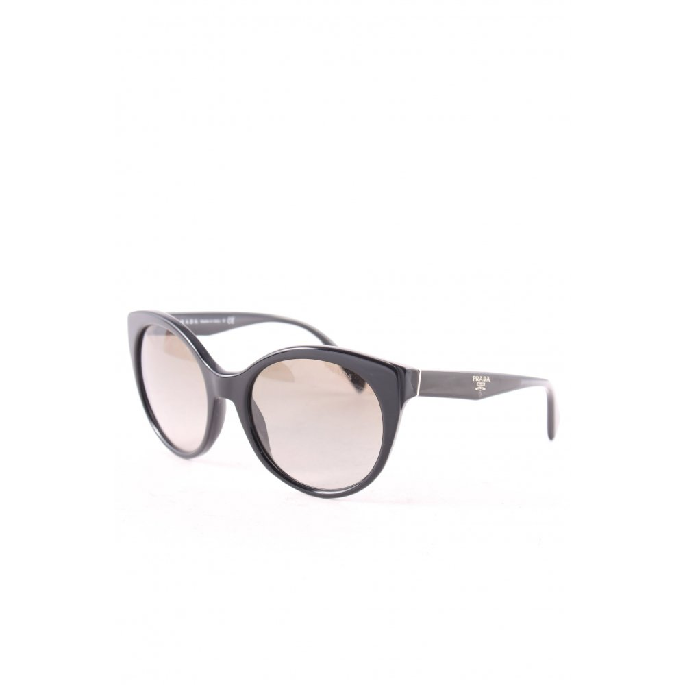 prada runde sonnenbrille schwarz beach look damen sunglasses round sunglasses ebay. Black Bedroom Furniture Sets. Home Design Ideas