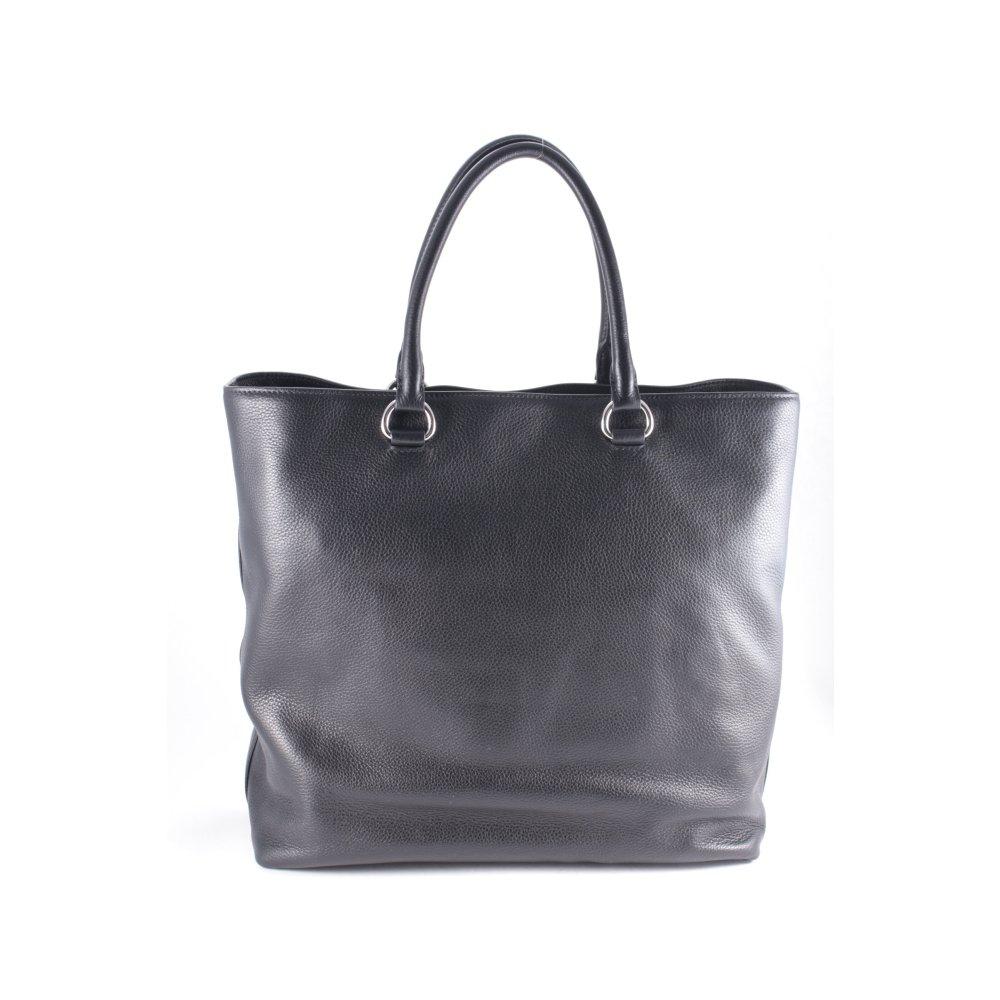 prada shopper schwarz casual look damen tasche bag leder. Black Bedroom Furniture Sets. Home Design Ideas