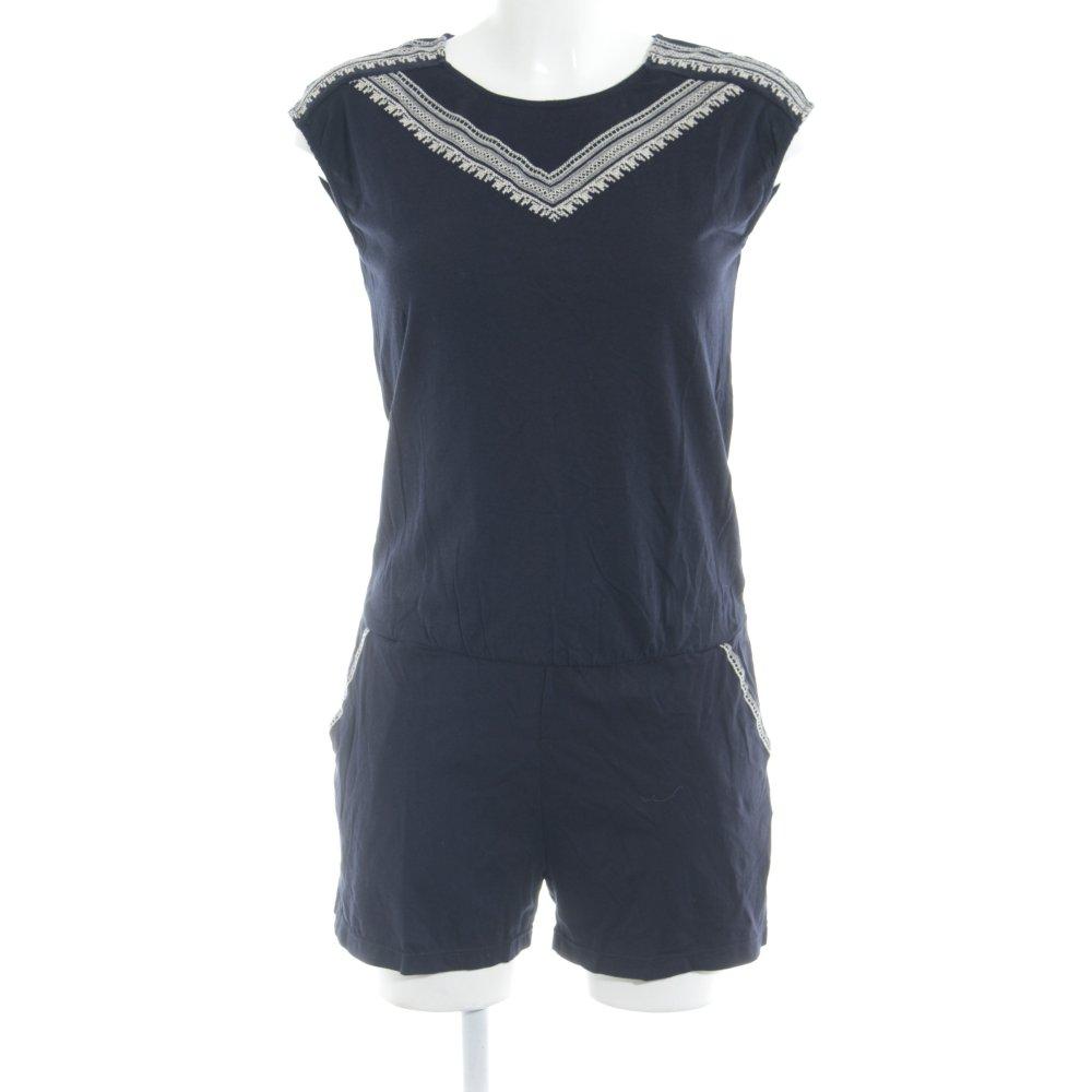 d1a510f6c1e9ca PROMOD Combinaison bleu foncé-crème motif aztèque style décontracté T 38