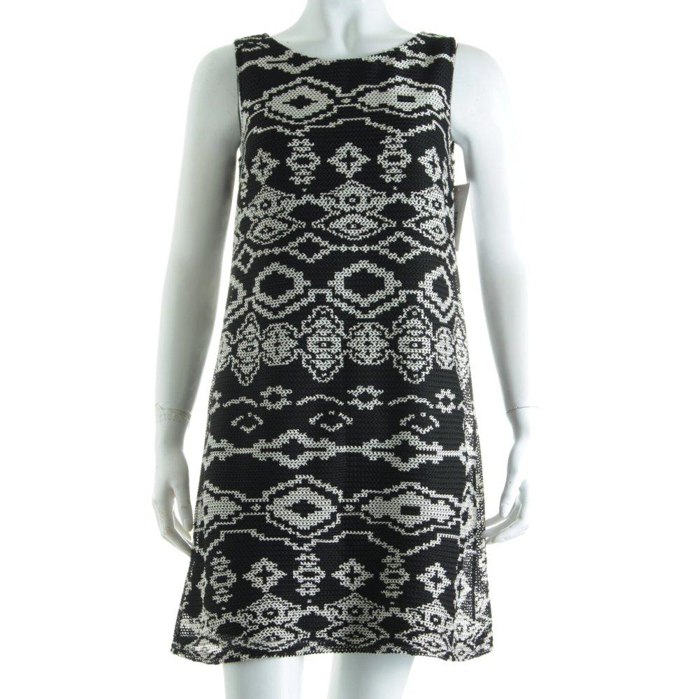promod kleid wei schwarz casual look damen gr de 36 wei dress ebay. Black Bedroom Furniture Sets. Home Design Ideas