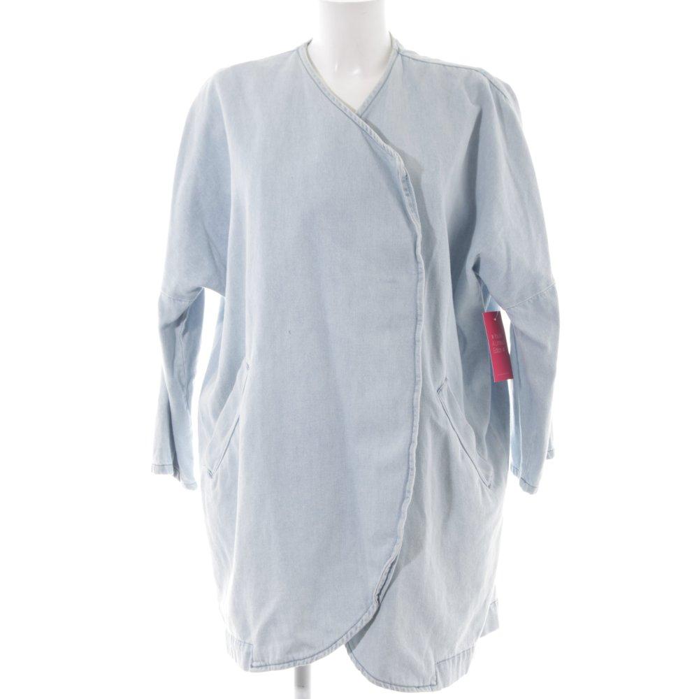 moderne et élégant à la mode vêtements de sport de performance belle qualité Détails sur PULL & BEAR Veste en jean bleu azur style décontracté Dames T  40 coton