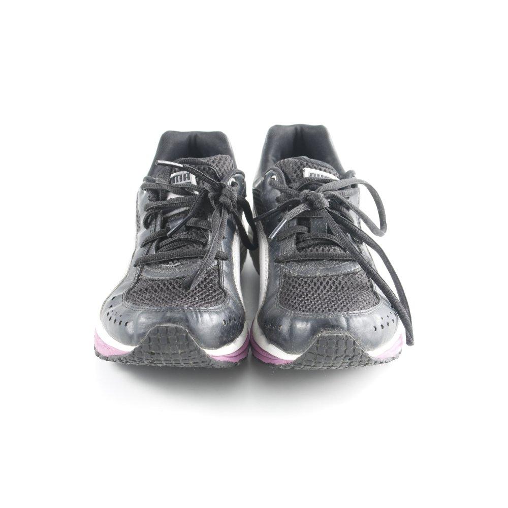 Détails sur PUMA Basket à lacet multicolore style athlétique Dames T 37 noir