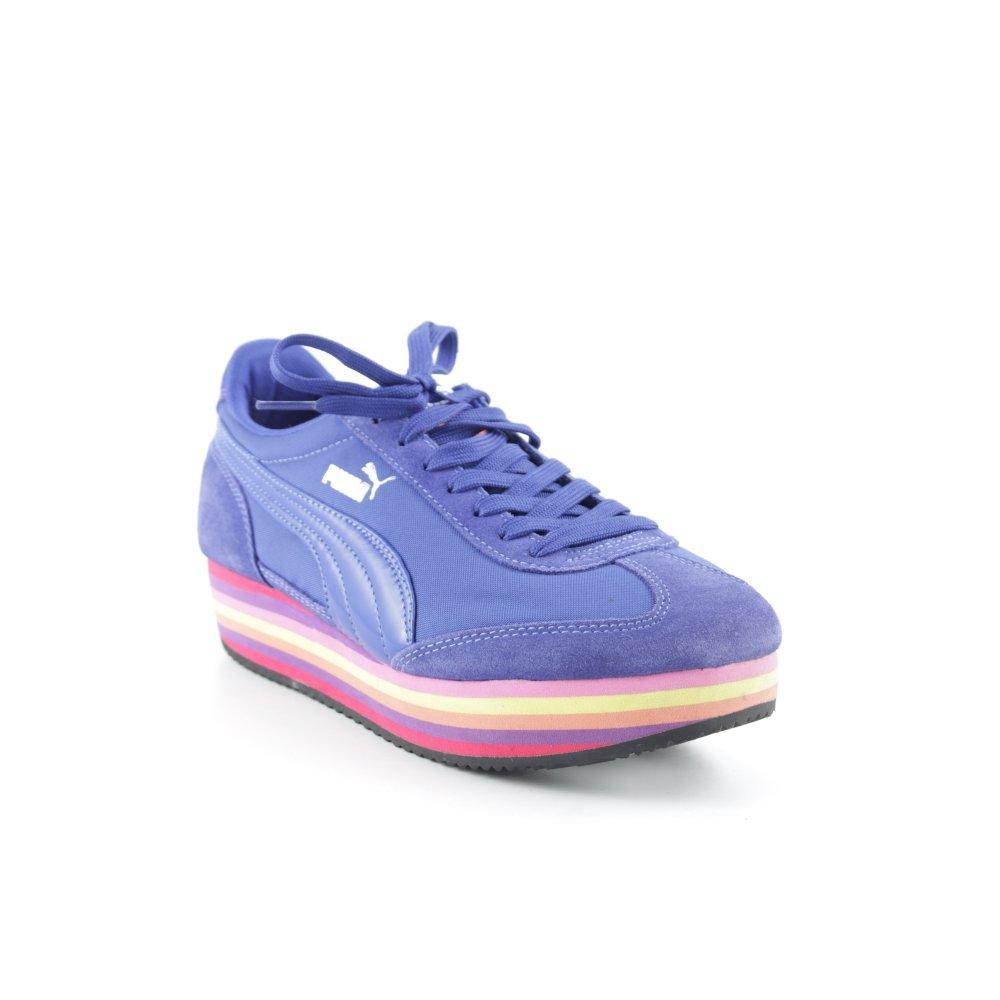 PUMA Sneaker stringata motivo a righe stile atletico Donna Taglia IT 40 blu