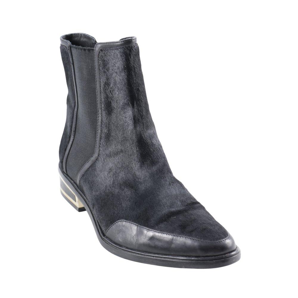 rachel zoe chelsea boots schwarz goldfarben urban look damen gr de 38 ebay. Black Bedroom Furniture Sets. Home Design Ideas
