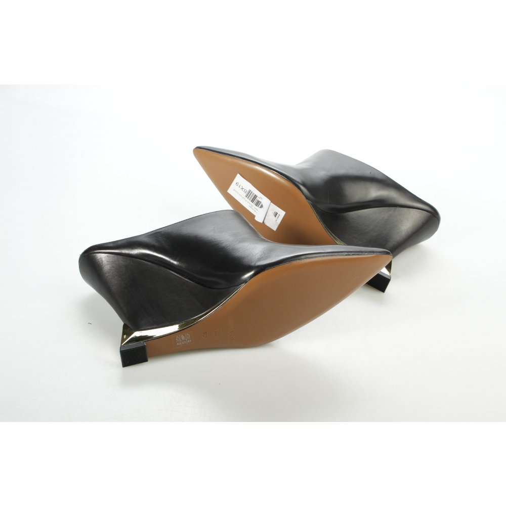 rachel zoe wedge pumps black gold colored street fashion. Black Bedroom Furniture Sets. Home Design Ideas