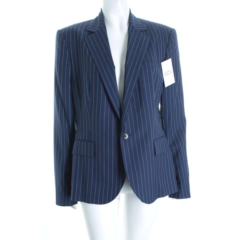 ralph lauren blazer dunkelblau wei nadelstreifen klassischer stil damen ebay. Black Bedroom Furniture Sets. Home Design Ideas