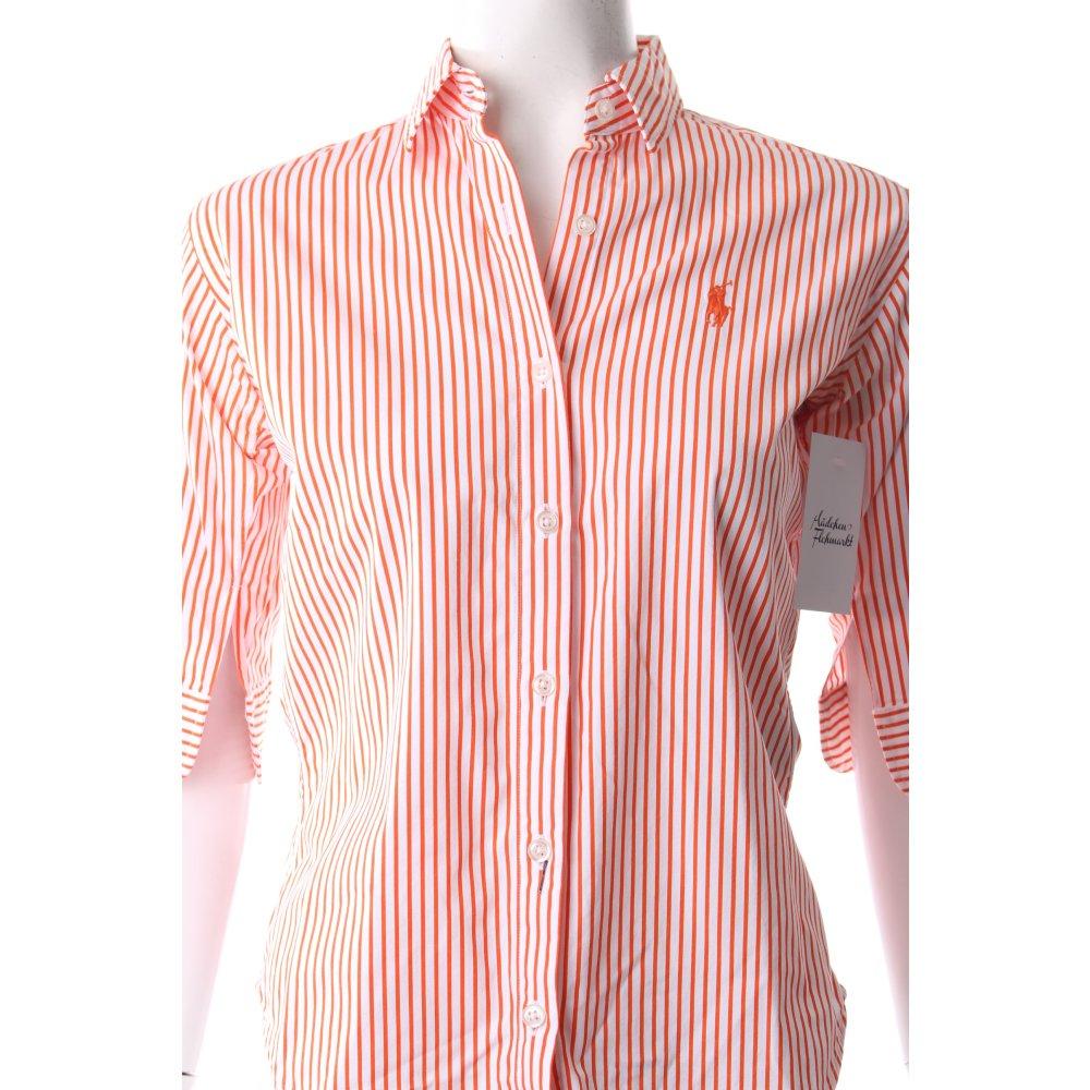 ralph lauren hemd bluse wei orange klassischer stil damen gr de 36. Black Bedroom Furniture Sets. Home Design Ideas