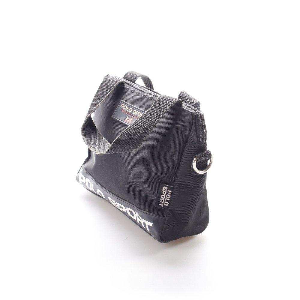 ralph lauren polo sport henkeltasche schwarz damen tasche bag carry bag ebay. Black Bedroom Furniture Sets. Home Design Ideas