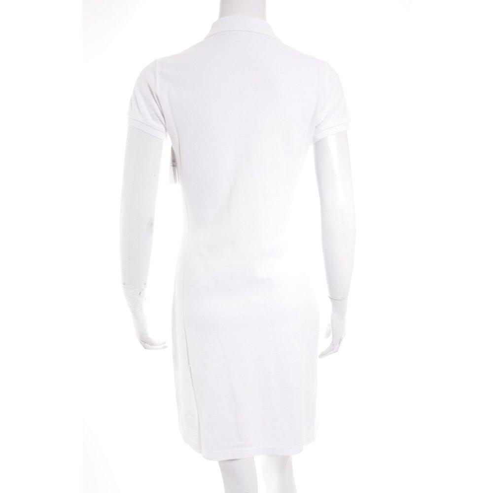 ralph lauren polokleid wei sportlicher stil damen gr de 36 wei kleid dress ebay. Black Bedroom Furniture Sets. Home Design Ideas
