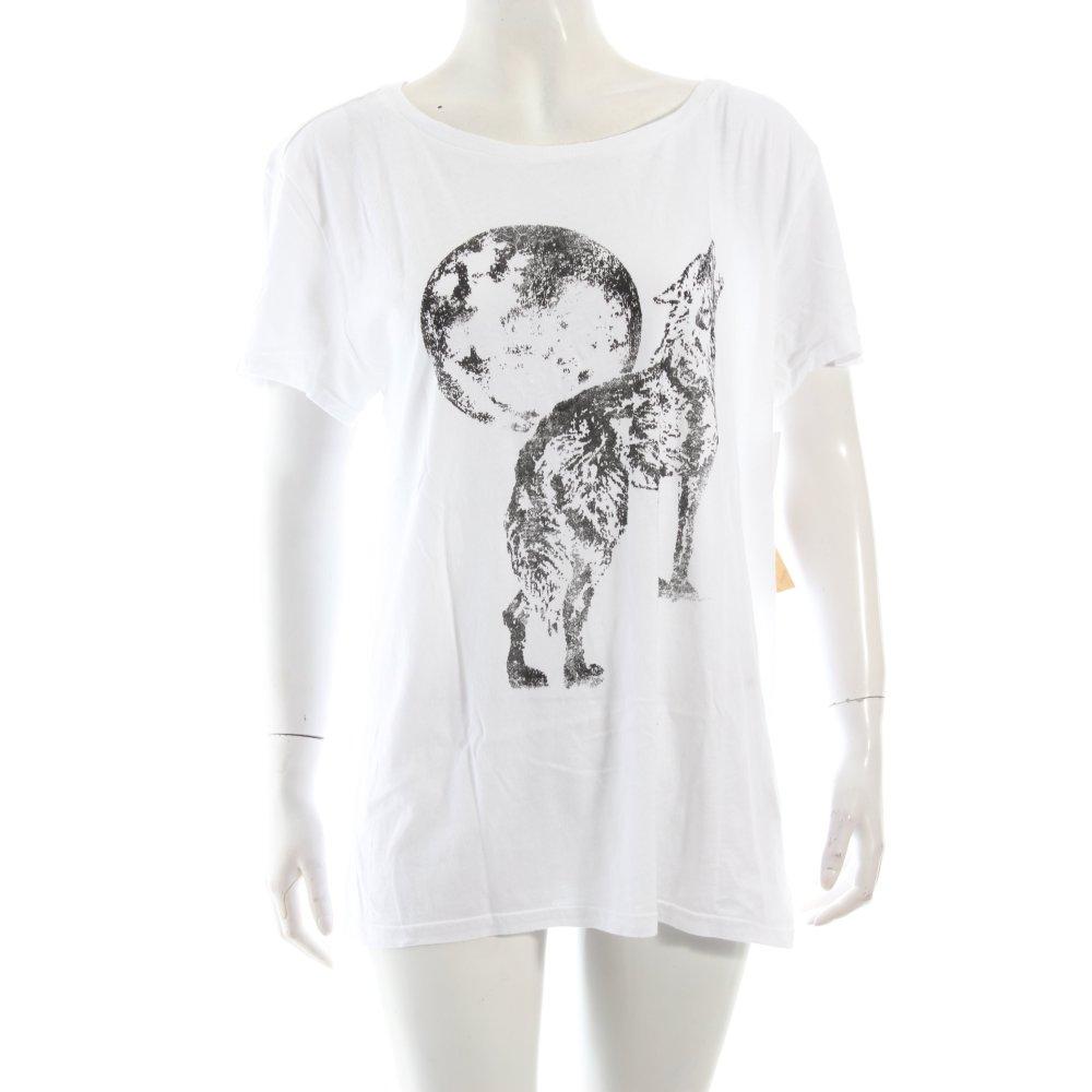 ralph lauren t shirt wei schwarz motivdruck schlichter stil damen gr de 40 ebay. Black Bedroom Furniture Sets. Home Design Ideas