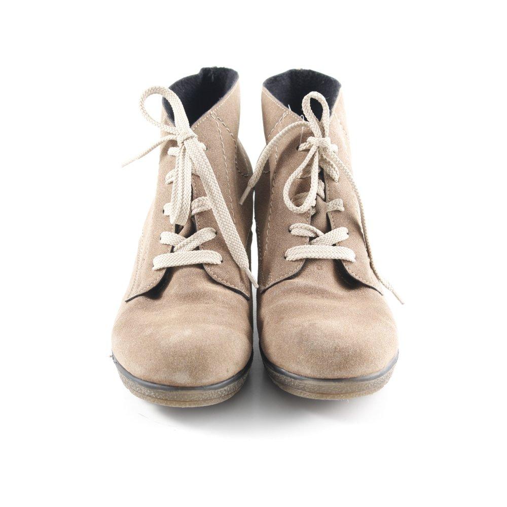 Détails sur RIEKER Bottines à lacets marron clair style décontracté Dames T 38