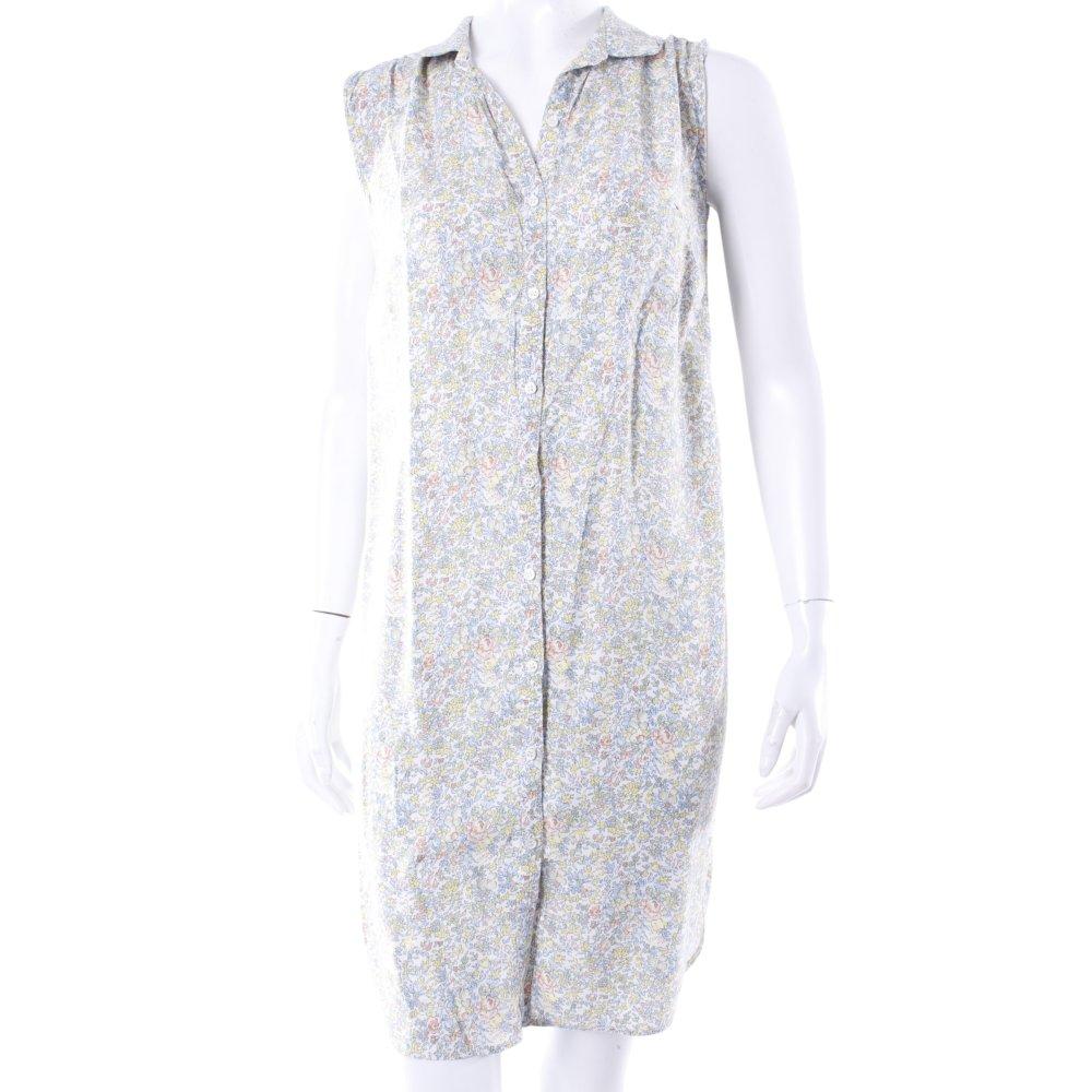 river island hemdblusenkleid bl mchen print damen gr de 34 creme kleid dress. Black Bedroom Furniture Sets. Home Design Ideas