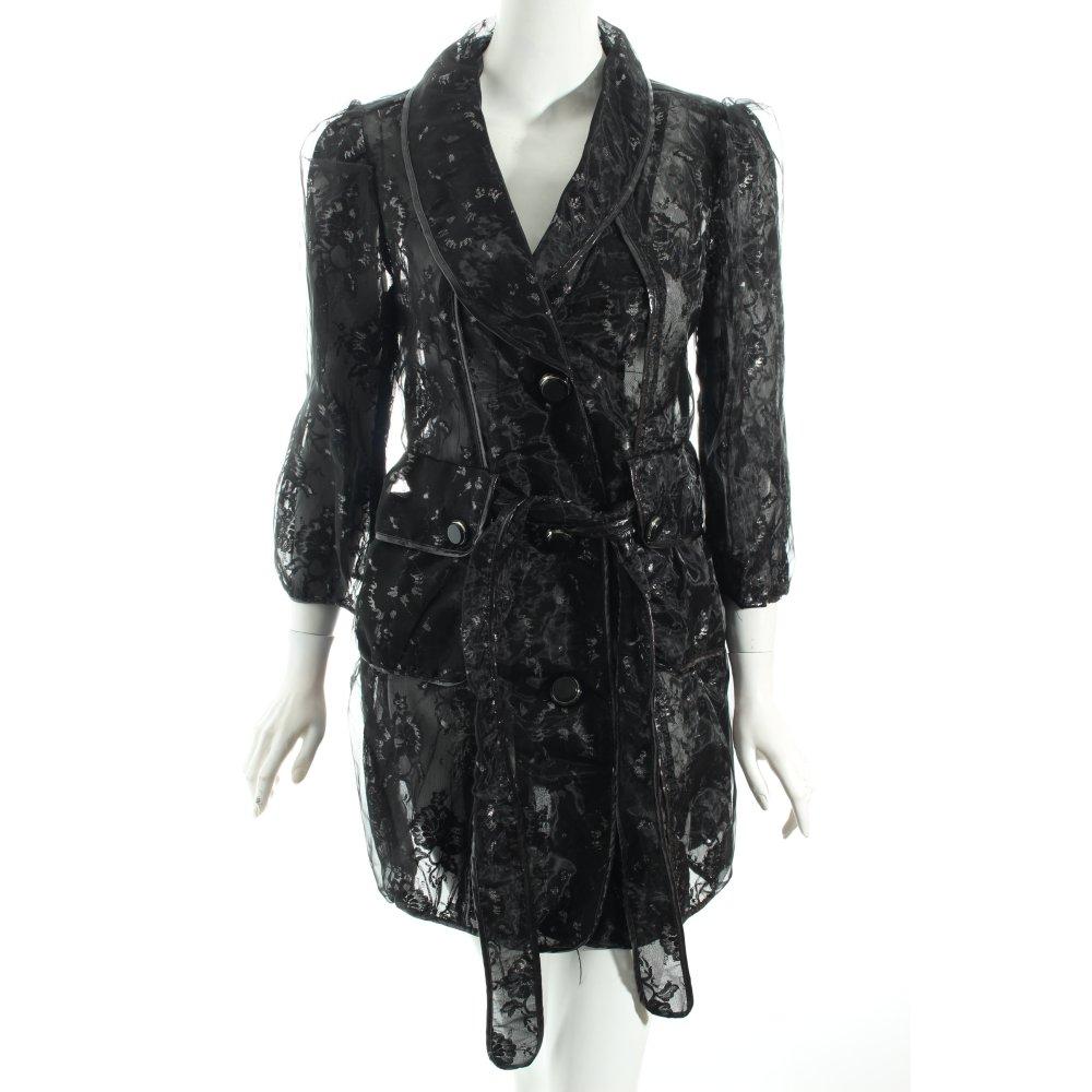 rosa rose trenchcoat schwarz grau extravaganter stil. Black Bedroom Furniture Sets. Home Design Ideas