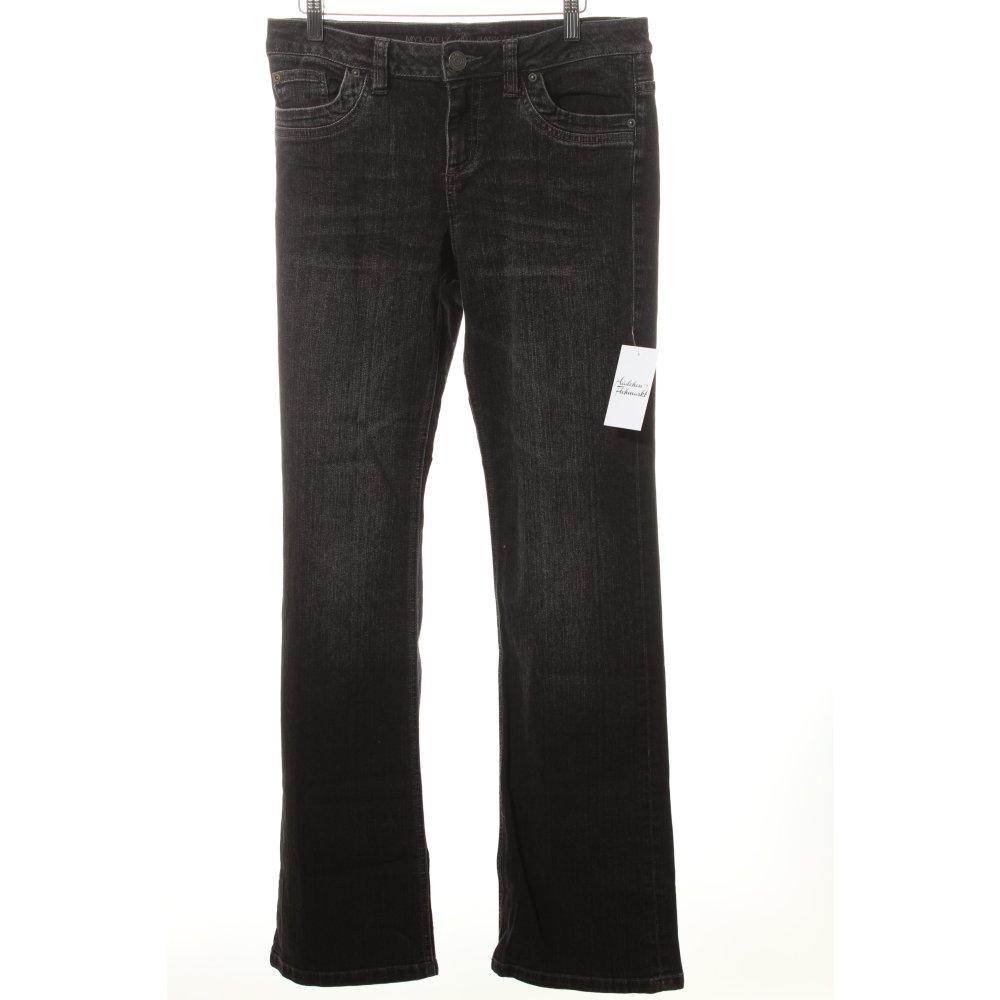 s oliver boot cut jeans black street fashion look women s size uk 10 ebay. Black Bedroom Furniture Sets. Home Design Ideas