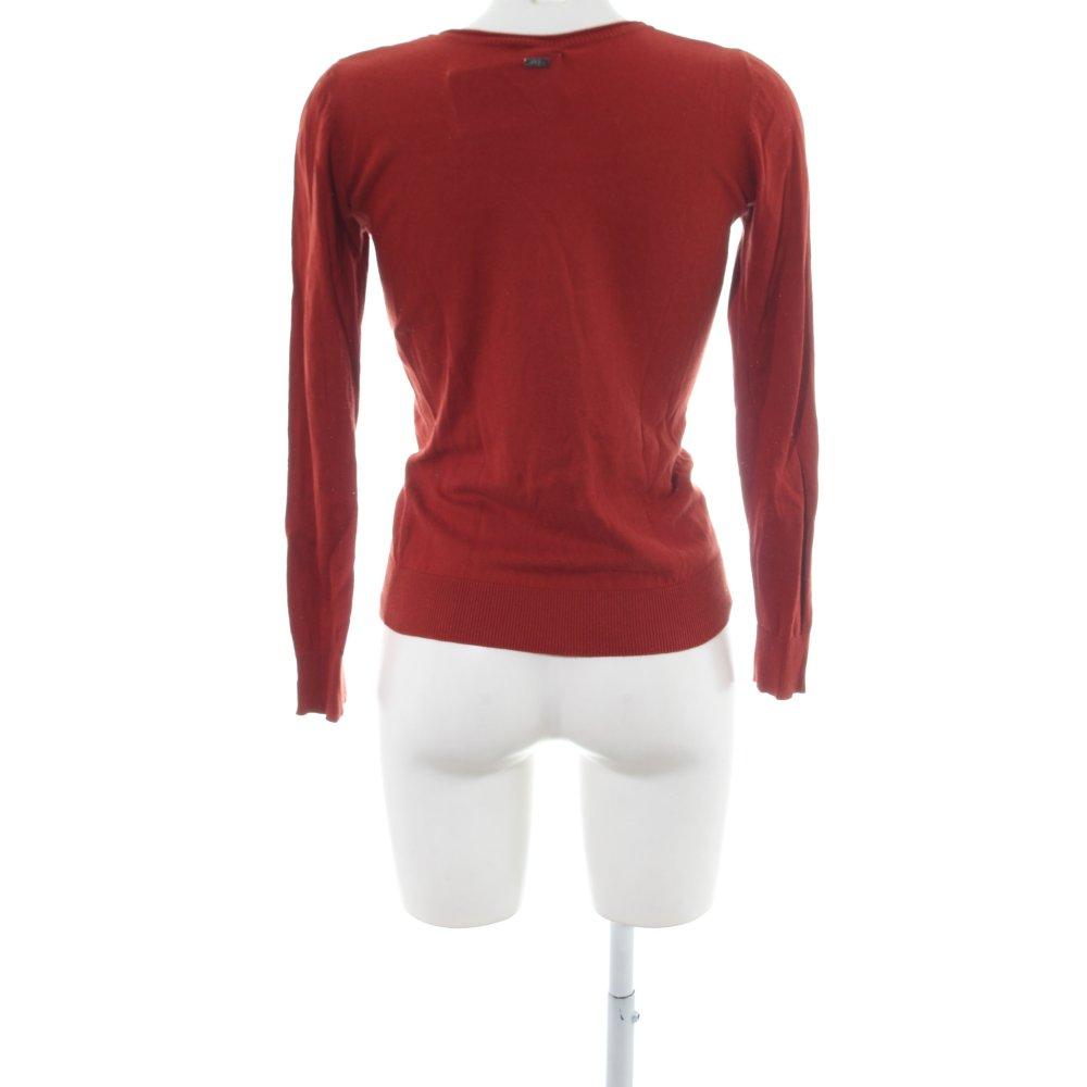 Dettagli su S.OLIVER Cardigan rosso stile casual Donna Taglia IT 38 Giacca