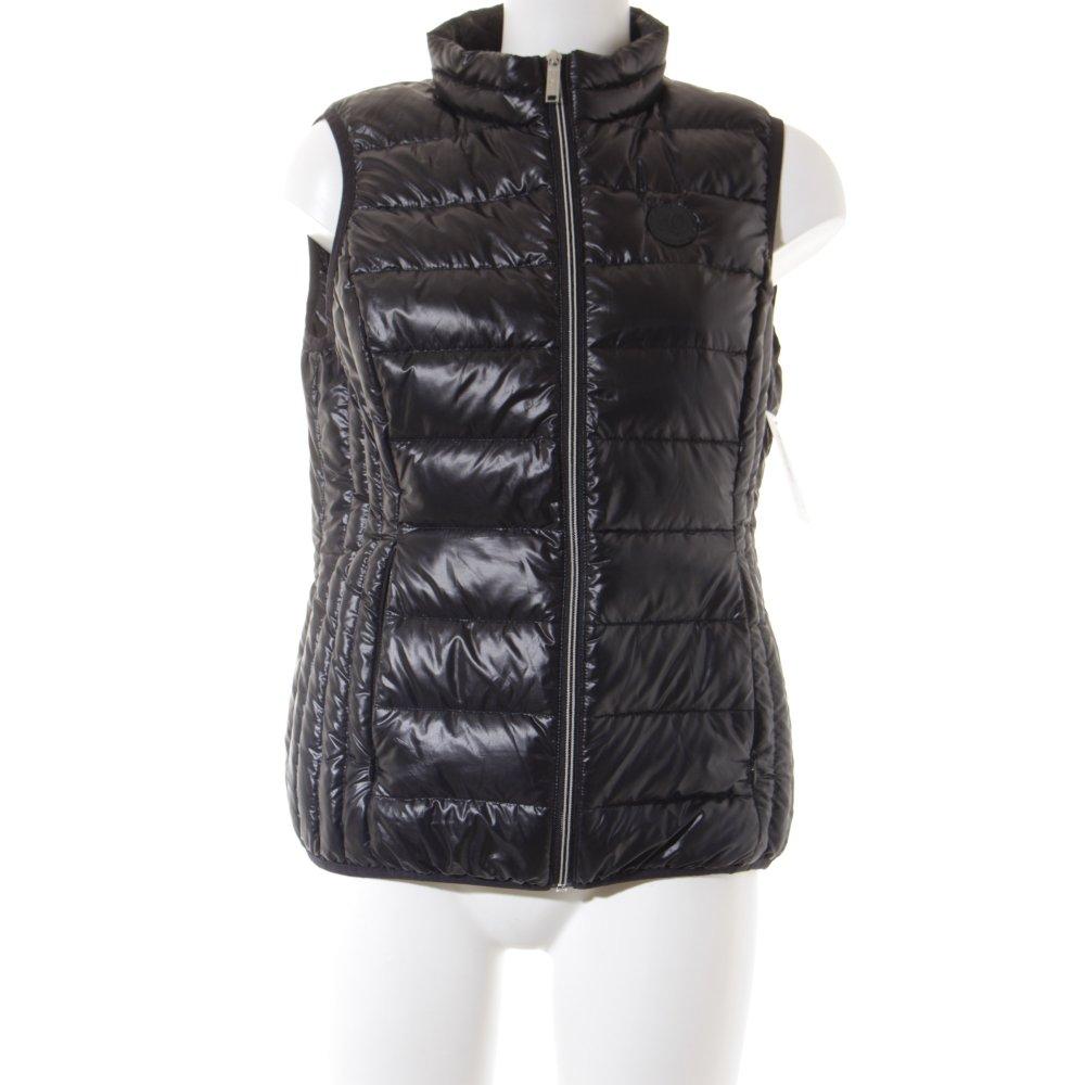 s oliver daunenweste schwarz casual look damen gr de 40 weste vest down vest ebay. Black Bedroom Furniture Sets. Home Design Ideas