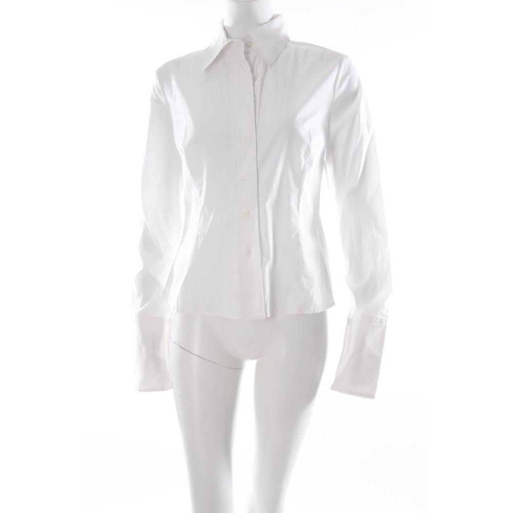 dettagli su s oliver camicia blusa bianco stile professionale donna. Black Bedroom Furniture Sets. Home Design Ideas