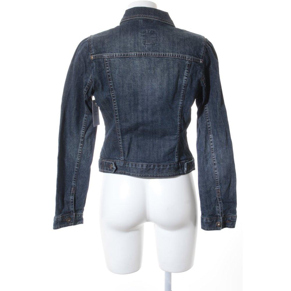s oliver jeansjacke dunkelblau casual look damen gr de 38. Black Bedroom Furniture Sets. Home Design Ideas