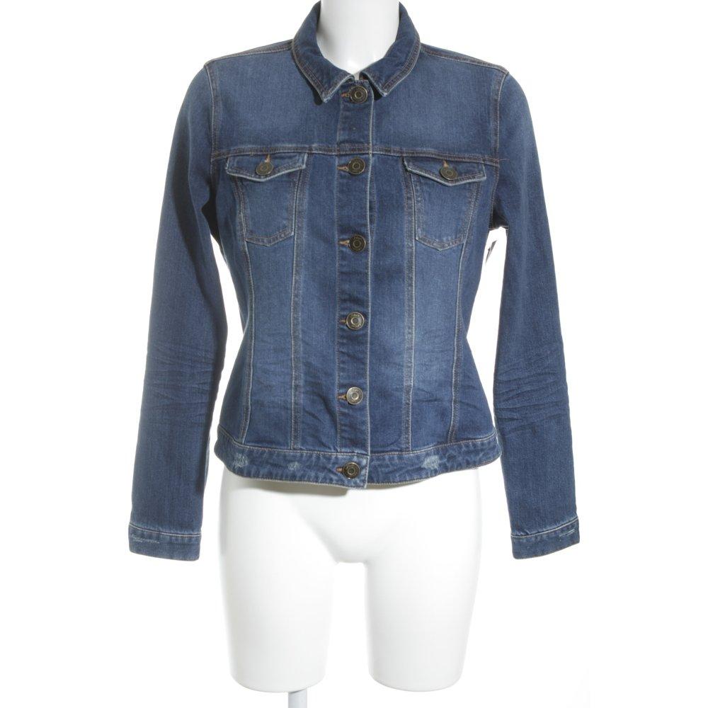 s oliver jeansjacke stahlblau jeans optik damen gr de 40. Black Bedroom Furniture Sets. Home Design Ideas