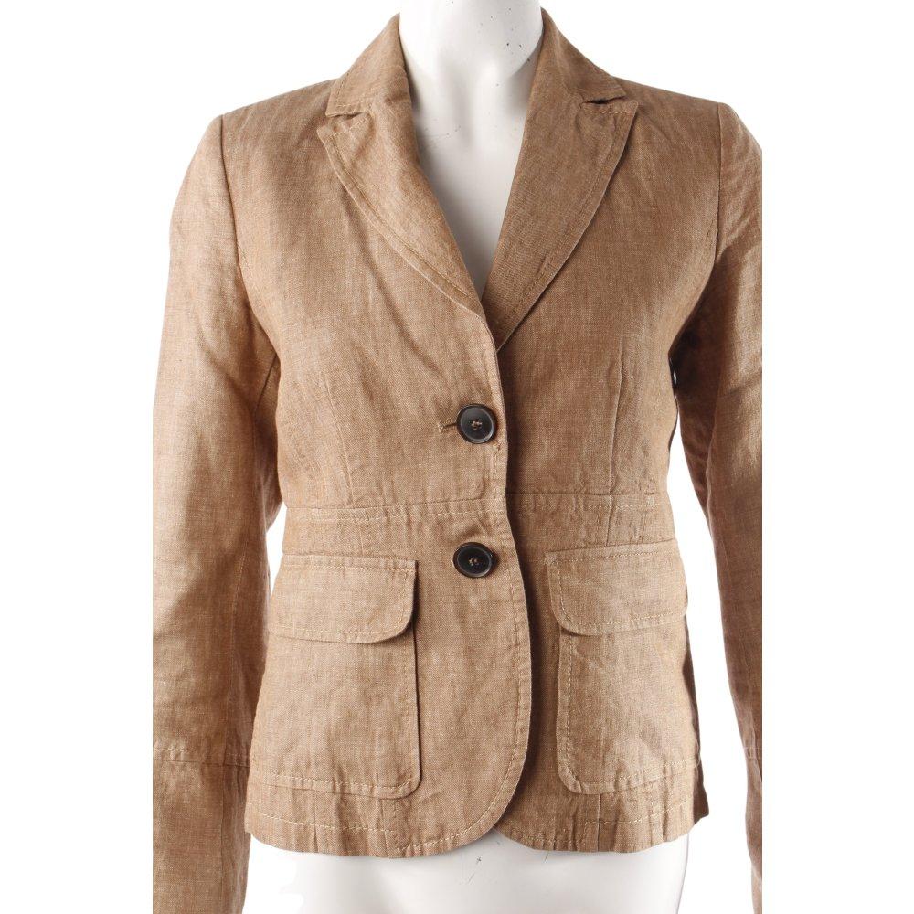 s oliver leinenblazer braun damen gr de 34 beige blazer. Black Bedroom Furniture Sets. Home Design Ideas