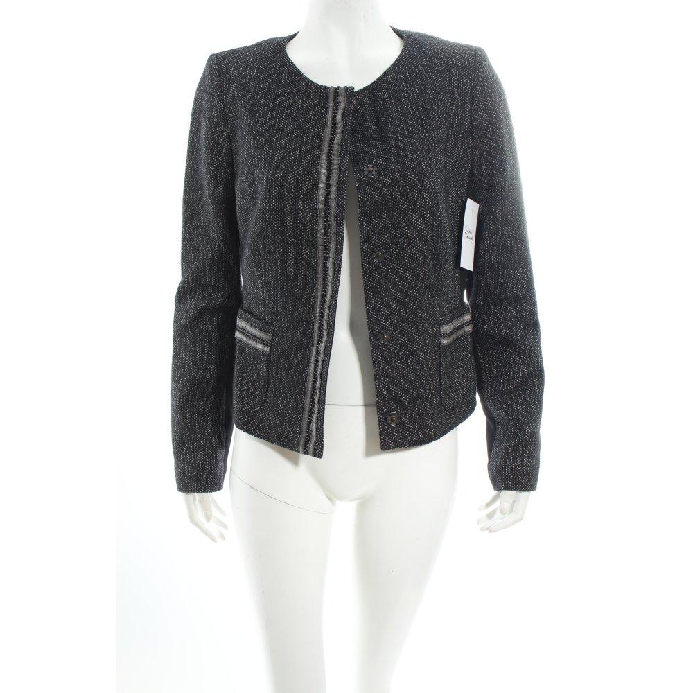 s oliver selection blazer schwarz silberfarben elegant damen gr de 38 ebay. Black Bedroom Furniture Sets. Home Design Ideas