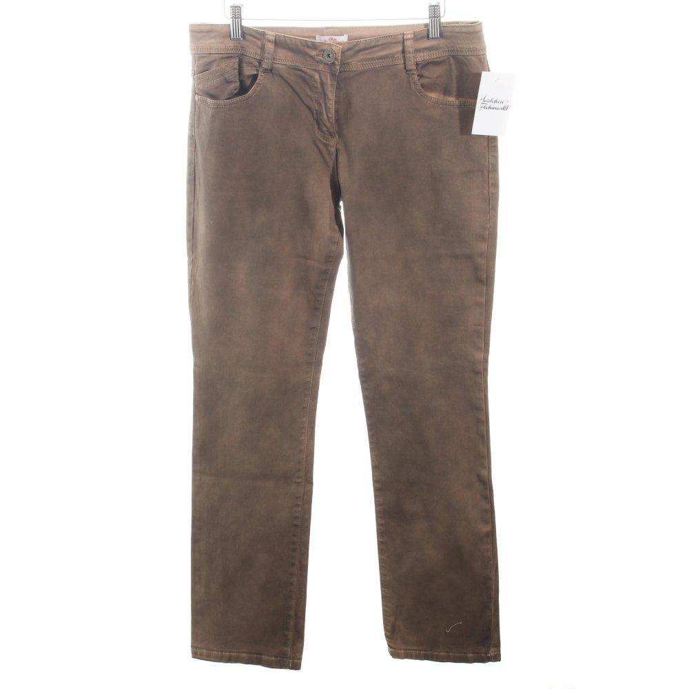 s oliver slim jeans bronzefarben casual look damen gr de. Black Bedroom Furniture Sets. Home Design Ideas