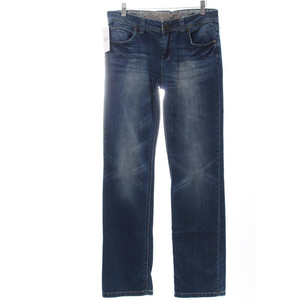 s oliver straight leg jeans blau washed optik damen gr de. Black Bedroom Furniture Sets. Home Design Ideas