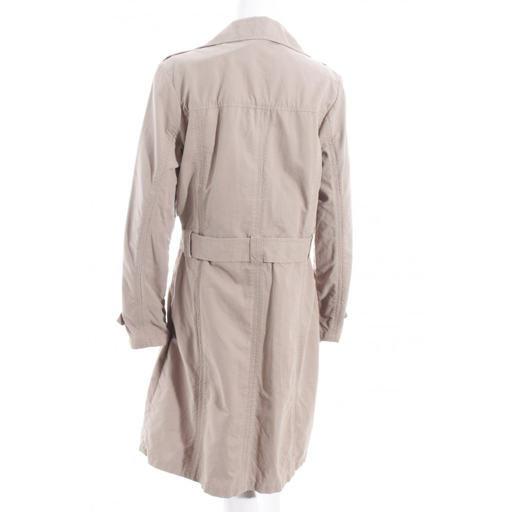 s oliver trench coat beige classic style women s size uk 14 cotton ebay. Black Bedroom Furniture Sets. Home Design Ideas
