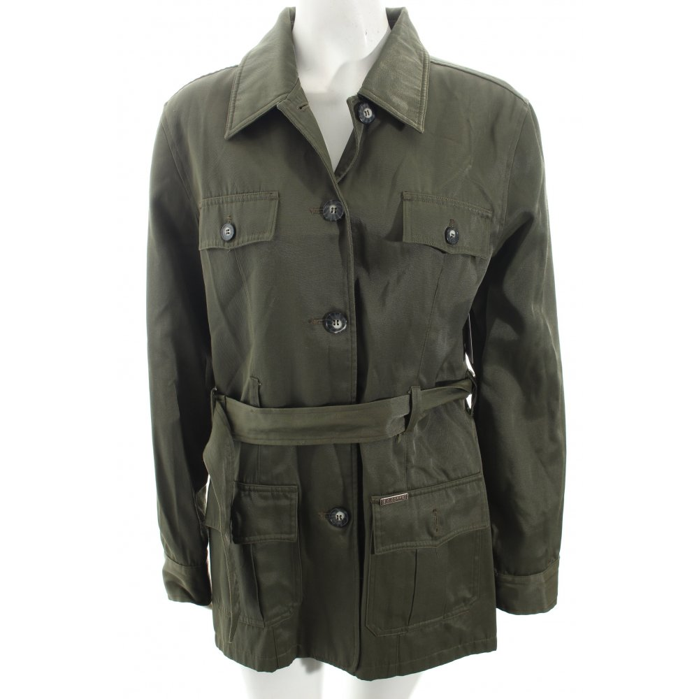 s oliver trench coat olive green casual look women s size uk 12 cotton. Black Bedroom Furniture Sets. Home Design Ideas