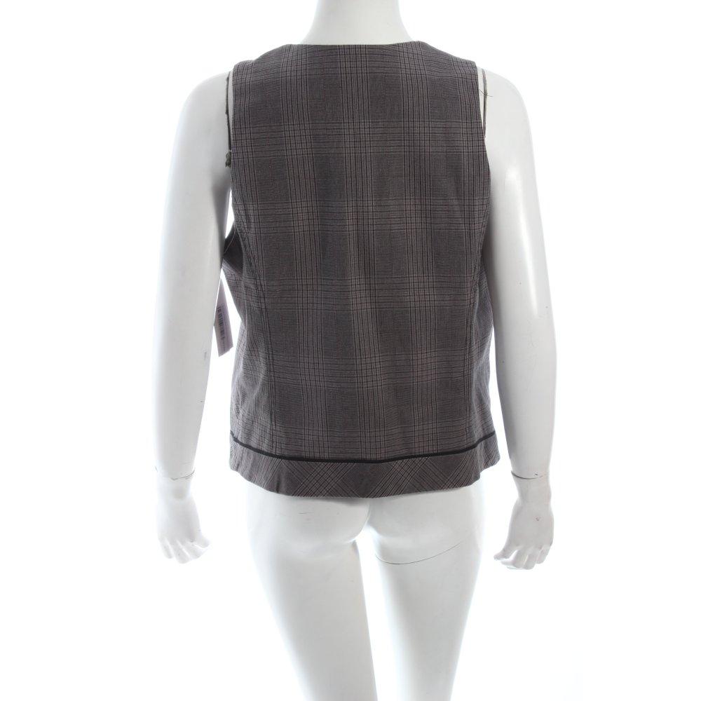 s oliver weste grau schwarz karomuster business look damen gr de 42 vest ebay. Black Bedroom Furniture Sets. Home Design Ideas
