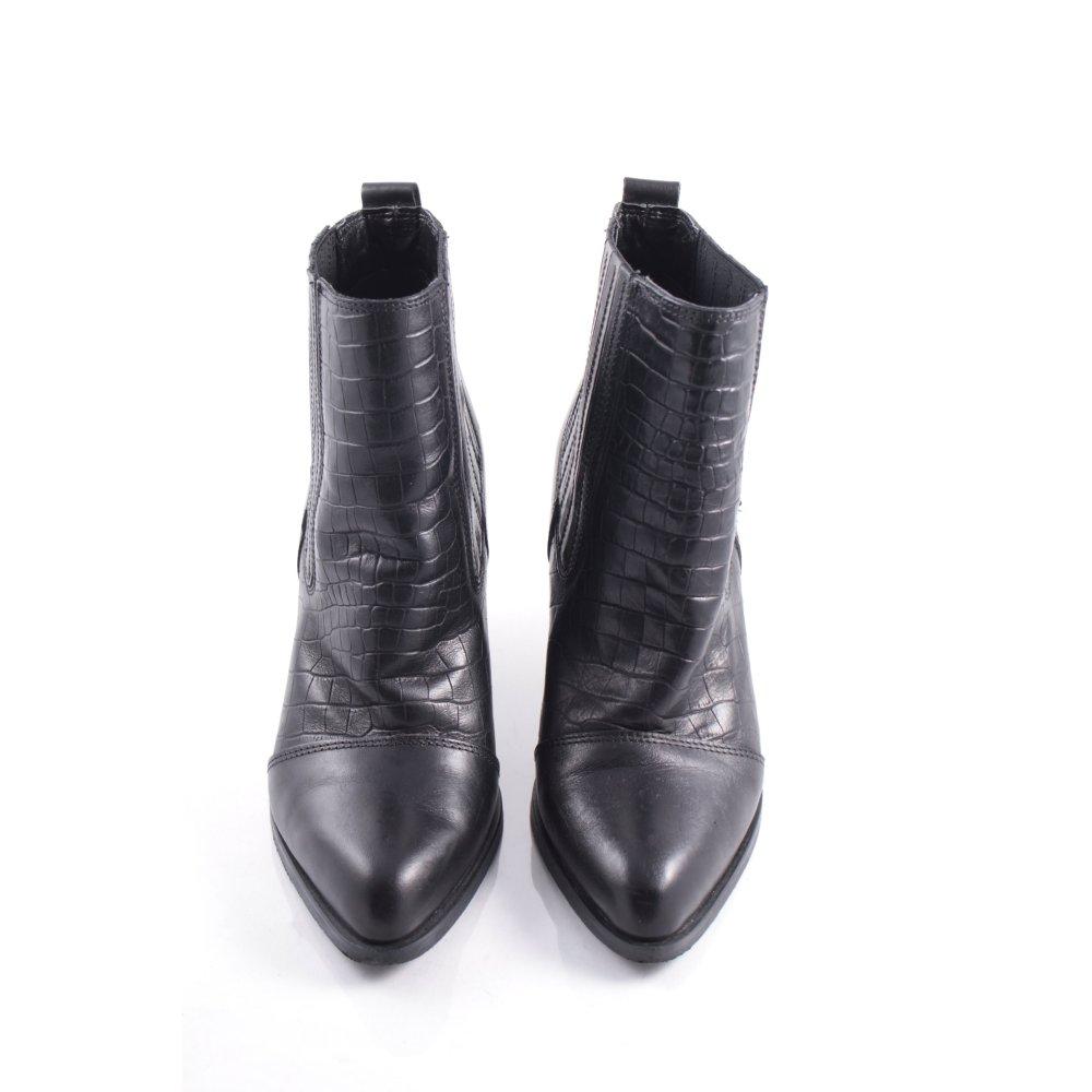 sacha ankle boots schwarz klassischer stil damen gr de 37. Black Bedroom Furniture Sets. Home Design Ideas