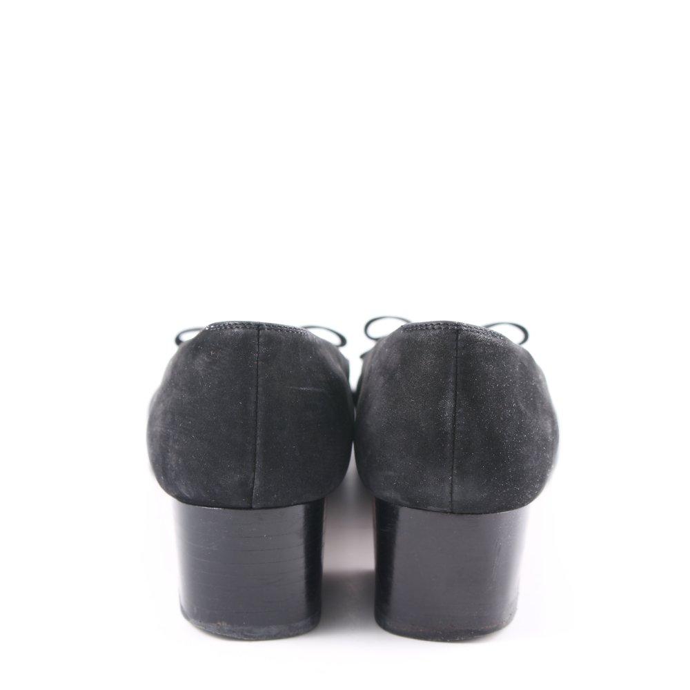 Details zu SALVATORE FERRAGAMO Spangen Pumps schwarz klassischer Stil Damen Gr. DE 37,5