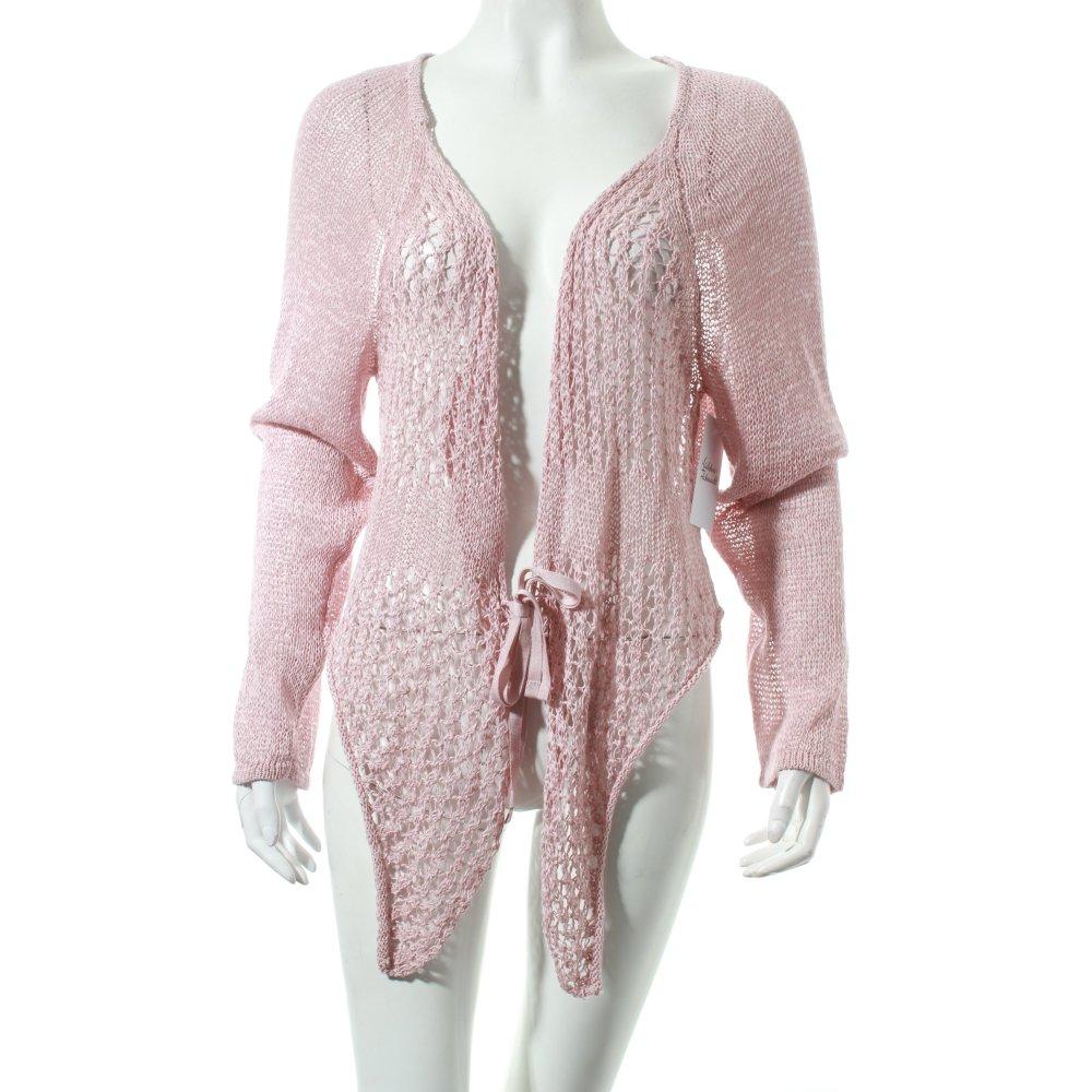 sandwich veste en tricot vieux rose motif tricot l che style mode des rues ebay. Black Bedroom Furniture Sets. Home Design Ideas