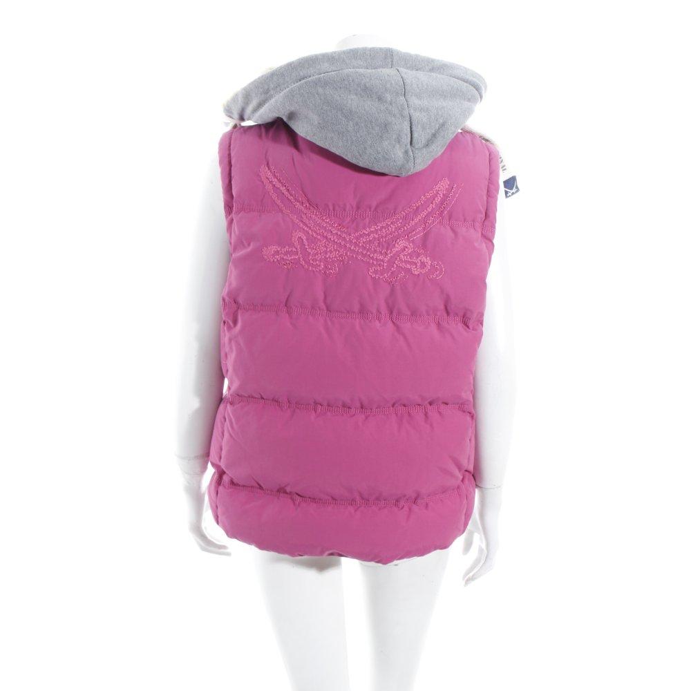 sansibar sylt daunenweste pink sportlicher stil damen gr de 42 weste vest ebay. Black Bedroom Furniture Sets. Home Design Ideas