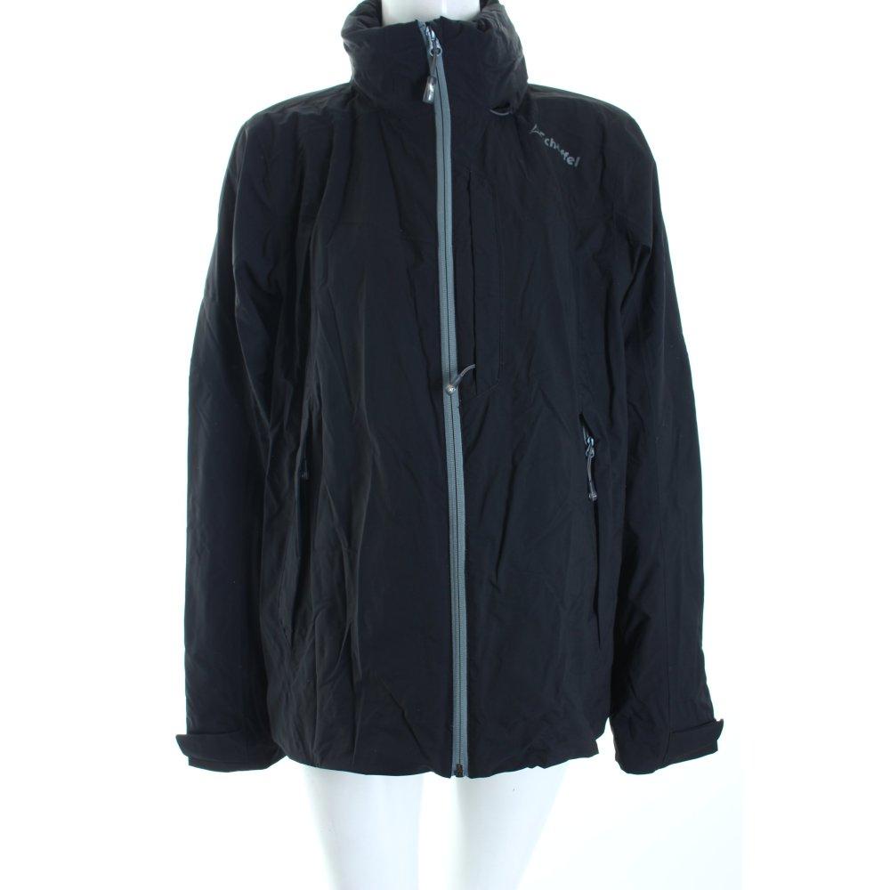 sch ffel regenjacke schwarz casual look damen gr de 46 jacke jacket raincoat ebay. Black Bedroom Furniture Sets. Home Design Ideas