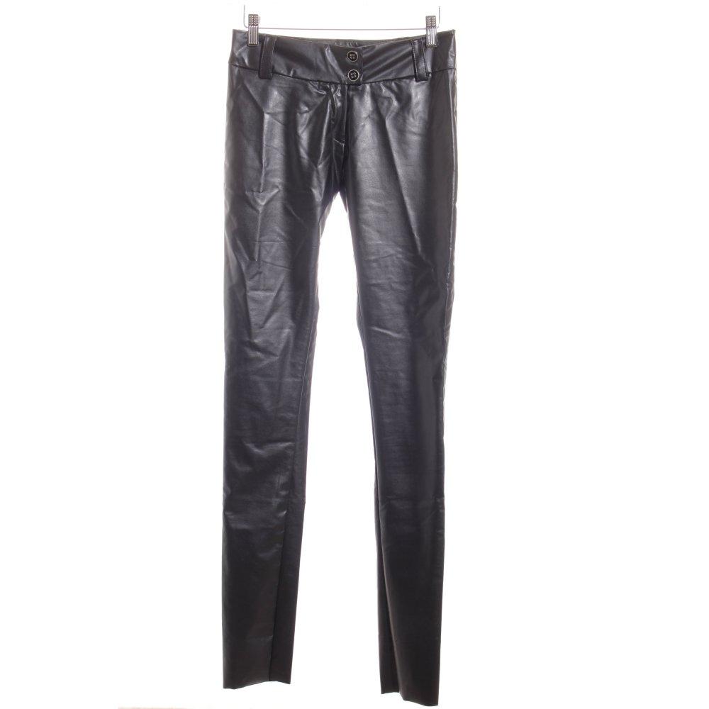 Damen Mozzaar Used Look Biker Skinny Jeans 8775 Ital-design