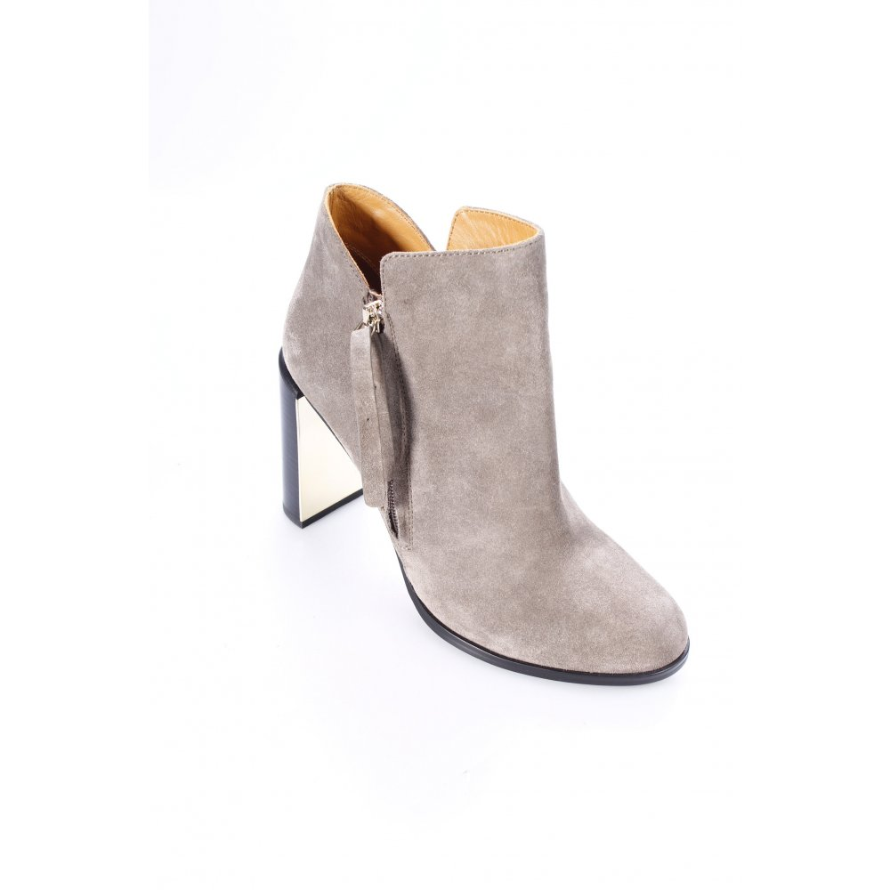 see by chloe stiefeletten nara suede ankle boot grey 40. Black Bedroom Furniture Sets. Home Design Ideas