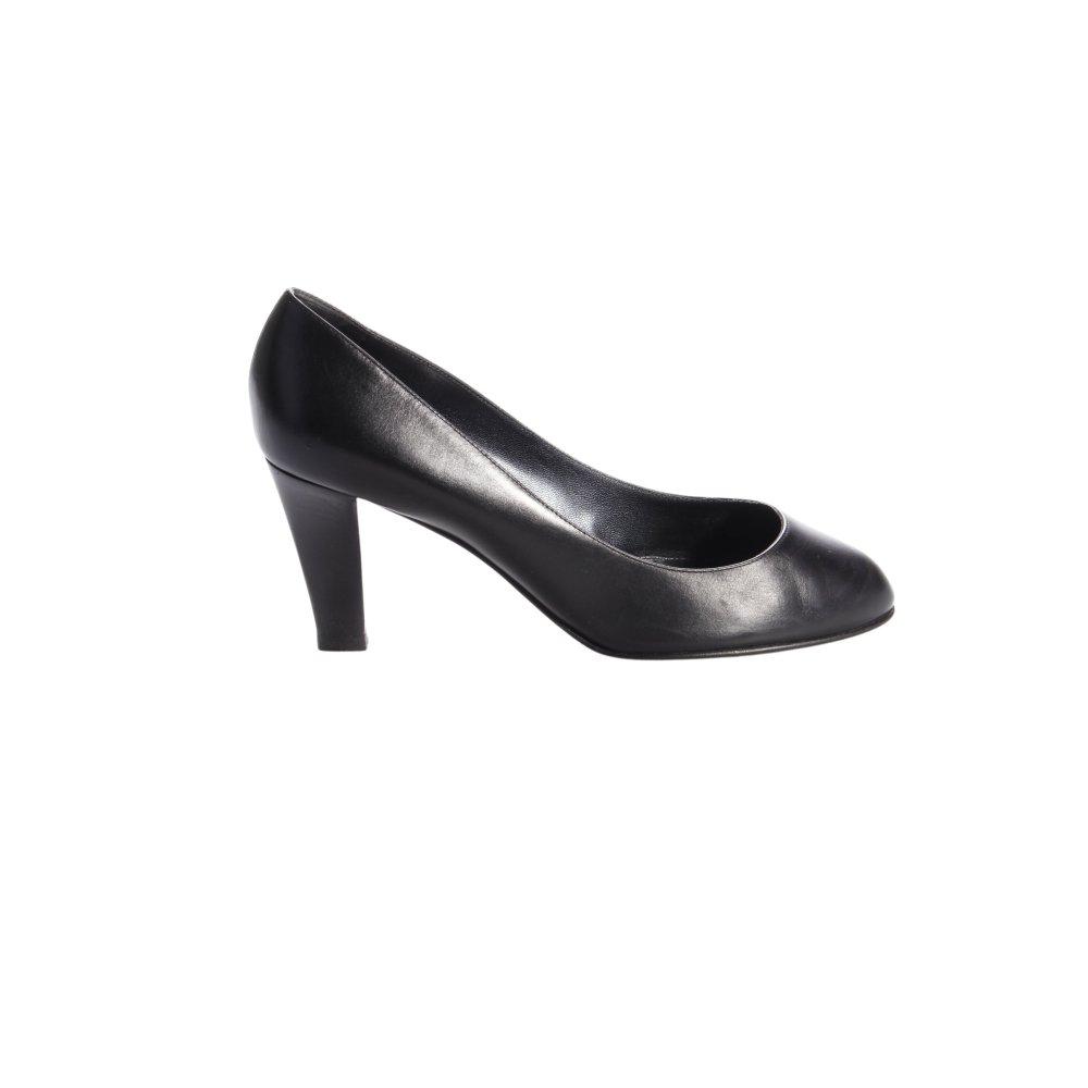 sergio rossi pumps schwarz damen gr de 40 schuhe shoes leder damenschuhe ebay. Black Bedroom Furniture Sets. Home Design Ideas