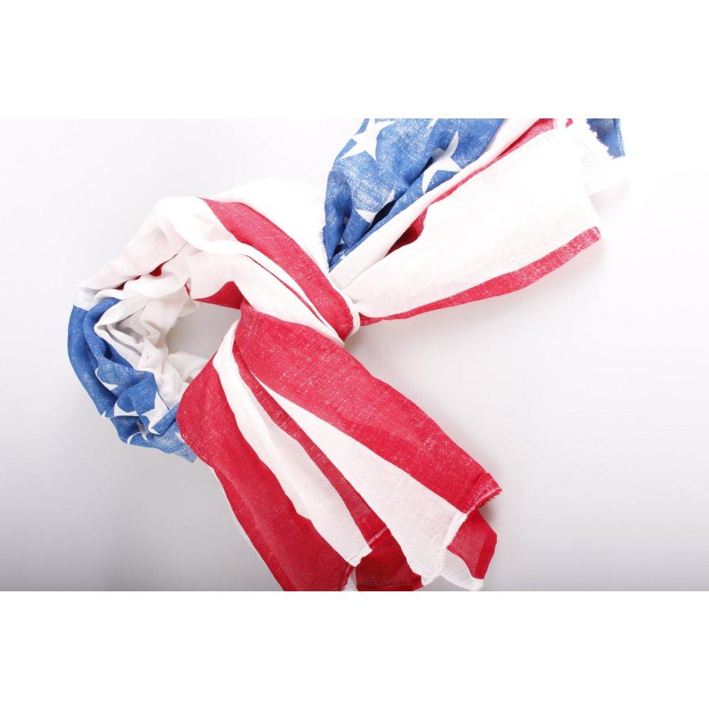 set schal mit amerikanischer flagge damen wei baumwolle scarf ebay. Black Bedroom Furniture Sets. Home Design Ideas