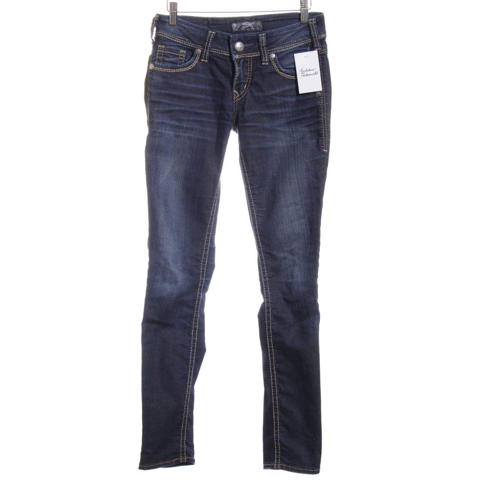 silver jeans skinny jeans blau casual look damen gr de 34 ebay. Black Bedroom Furniture Sets. Home Design Ideas