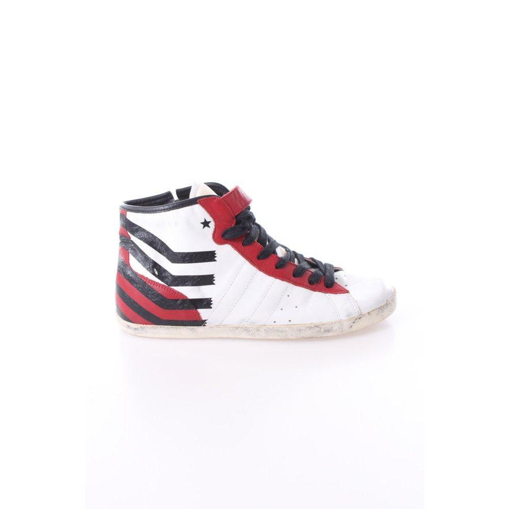 sneakers wei mit roten details damen gr de 40 wei schuhe shoes leder ebay. Black Bedroom Furniture Sets. Home Design Ideas