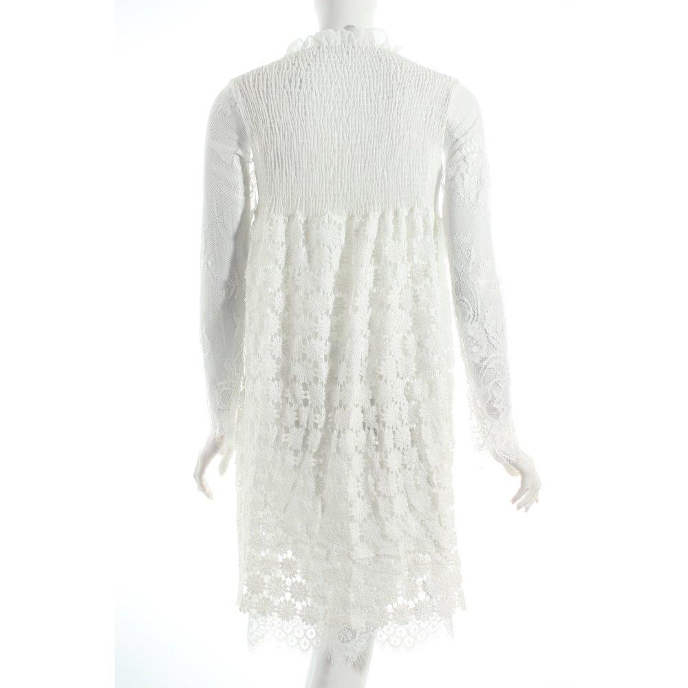 spitzenkleid wei spitzen optik damen gr de 38 wei kleid dress lace dress ebay. Black Bedroom Furniture Sets. Home Design Ideas