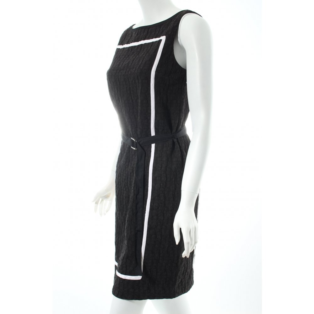 stefanel kleid schwarz wei klassischer stil damen gr de 34 dress ebay. Black Bedroom Furniture Sets. Home Design Ideas