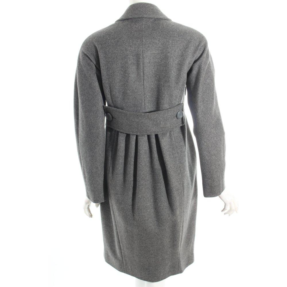 stefanel wintermantel grau street fashion look damen gr de 36 mantel coat ebay. Black Bedroom Furniture Sets. Home Design Ideas