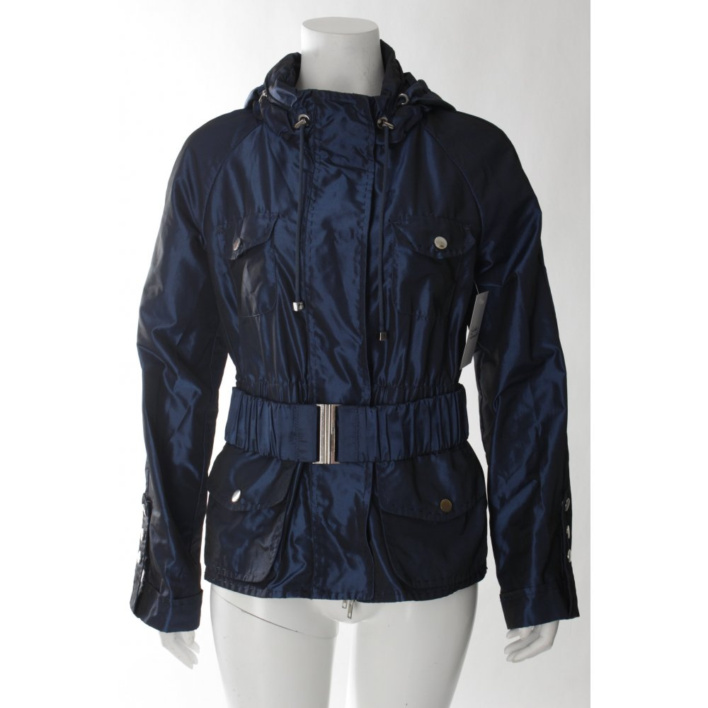 steffen schraut jacke blau metallic optik damen gr de 36 jacket ebay. Black Bedroom Furniture Sets. Home Design Ideas