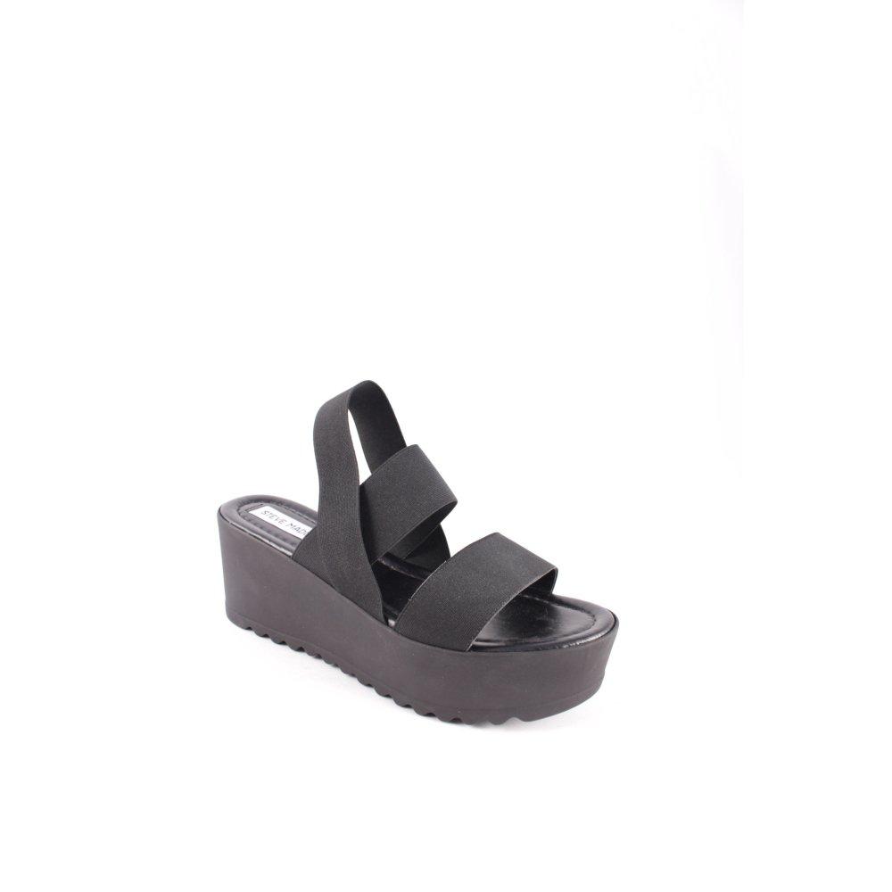 STEVE MADDEN Sandalo con plateau nero stile da moda di strada Donna Taglia IT 39
