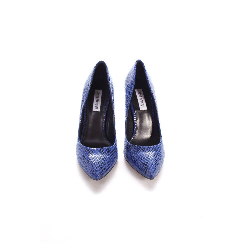 steve madden pumps blau schwarz glanz optik damen gr de 41 schuhe shoes ebay. Black Bedroom Furniture Sets. Home Design Ideas